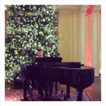 Demas Boudreaux playing the Steinway grand piano at the Country Club of Virginia