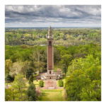 Completed in 1928 as a memorial to World War I, the Carillon tower contains 53 bells that, when played, can be heard throughout Richmond